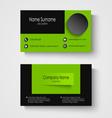 Modern sample green business card template vector