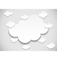 Frame with cut out clouds vector