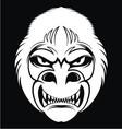 White monkey face vector