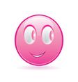 Pink smiley vector