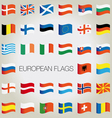 Set of flags with waves for your design vector