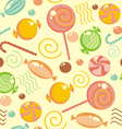 Seamless candy background vector