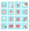 Social network icons flat line vector