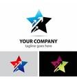 Star logo symbols with arrow vector