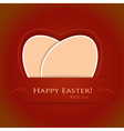 Beige easter background vector