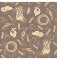 Seamless pattern with cowboy elements vector