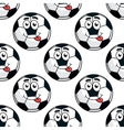 Goofy soccer ball seamless pattern vector