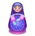 Russian traditional matryoshka folk doll vector