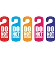 Do not disturb door hanger vector