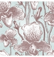 Seamless orchid floral pattern  eps10 vector