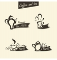 Signs of tea vector