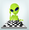 Cartoon alien chess vector