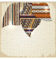 Vintage background with african paintings vector