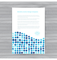 Watercolor circles corporate identity blank back vector
