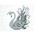 Beautiful abstract swan vector