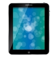 Black abstract tablet pc on white background vector