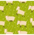 Seamless goats background vector