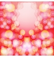 Bright red abstract background with bokeh effect vector