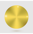 Gold metal badges on white background vector
