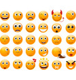 Set of orange smiles vector