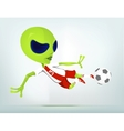 Cartoon alien soccer vector