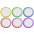 Six colorful buttons vector