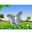 Elephant cartoon on forest vector