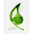 Green eco unusual background concept vector