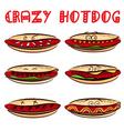 Crazy hotdog vector