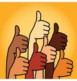 Like and thumbs up symbol abstract background vector