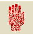 Medicine hand vector