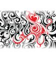 Tribal swirl background vector