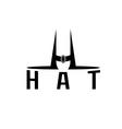 Hat monogram vector