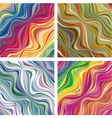 Abstract textures with wavy lines 1 vector
