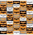 Halloween bat pattern vector