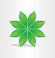 Green flower abstract design vector