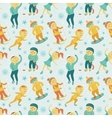 Winter sports seamless pattern with children vector