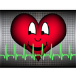 Laughing heart with green cardio line vector