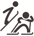Nordic combined icon vector