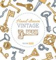 Vintage keys background vector