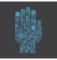 Hand the tool vector