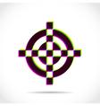 Crosshair symbol vector