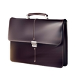 Black briefcase vector