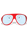 Red glasses vector