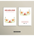 Book cover with flowers vintage design vector