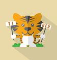 Modern flat design tiger icon vector