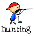 A stickman hunting vector