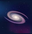 Galaxy on a dark night starry sky vector