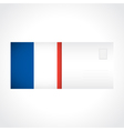 Envelope with french flag card vector