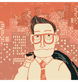 Business man portrait in office clothes in big vector
